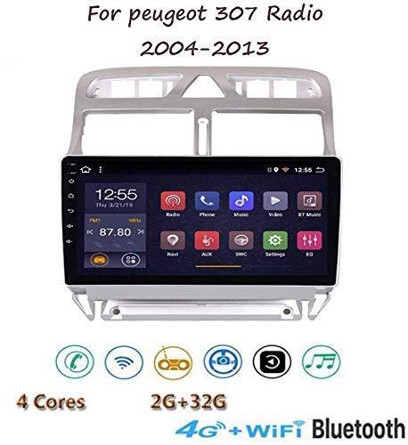 XXRUG Android 8.1 estéreo Radio del GPS de navegación para Las Llamadas Peugeot 307 2004-2013 9'1080P HD de Pantalla táctil Reproductor Multimedia Espejo Enlace SWC Bluetooth Manos Libres