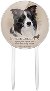 GRAPHICS & MORE Acrylic Border Collie Dog Breed Cake Topper Party Decoration for Wedding Anniversary Birthday Graduation