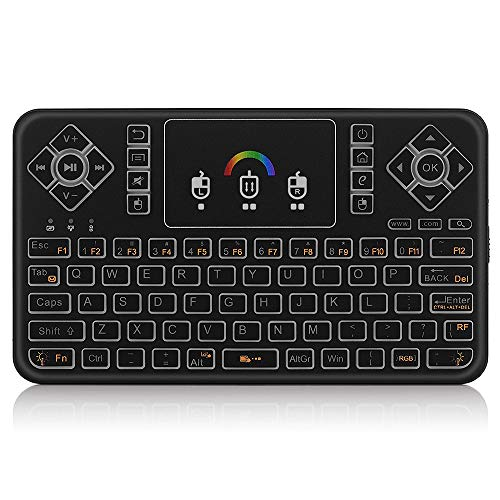 Docooler Wireless Keyboard 2.4G LED Backlight Handheld Remote Control w/Touchpad for Android TV Smart TV HTPC Tablet PC Smartphone