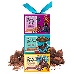 Curiously moreish cocoa dusted luxury truffles in beautiful gift boxes. Over 30 cocoa dusted truffles in total, 10+ truffles of each flavour. 3 Great Taste Award Winning flavours. Intensely Chocolatey Choccy Scoffy, Toasted Hazelnut Scrumple Nutty, a...