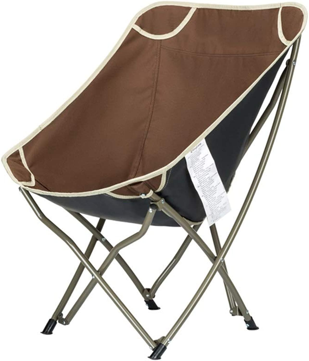 ZHAOYONGLI Footstools,Otools Fishing Chair Portable Folding Stool Lunch Break Chair Backrest Shortfoot Beach Chair Folding Chair (color   Brown 54  60  75cm)