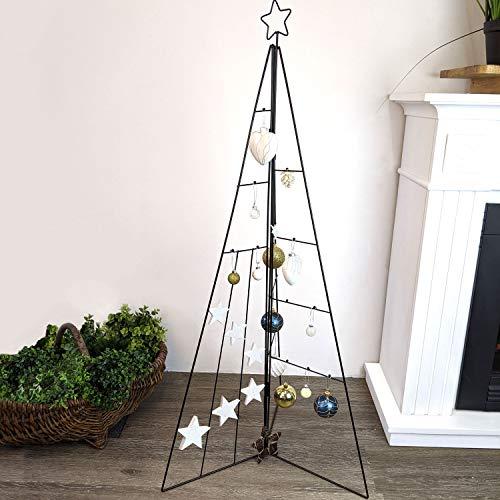 Home Styling Weihnachtsdekoration Aufsteller Weihnachtsbaum Dekobaum, Metall, Höhe 115cm, Tannenbaum Christbaum Tanne