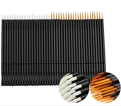 Coshine 100pcs 2 Styles Einmal-Nylon Eyeliner Wands Applikator Eyeliner Lip Liner Bürsten