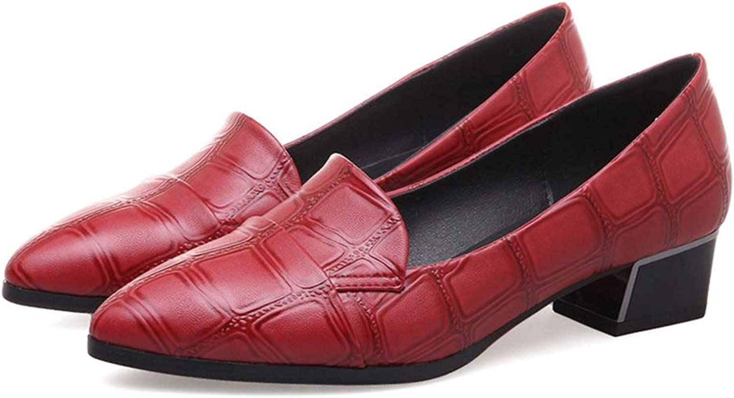 T-JULY British Concise Women Loafers Embossed Faux Crocodile PU Leather Casual Pointed Toe Flats Slip-on Retro Oxford Dress