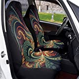 srwe Car Seat Covers Trippy Acid Trip Psychedelic Swirly Universal Front Seat Covers Saddle Blanket Seats Cover Protectors for Cars Truck SUV Van Protector 2 Pcs