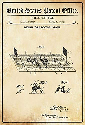 NWFS patent ontwerp voetbal spel metalen plaat plaat metalen plaat plaat plaat metaal Tin Sign gewelfd gelakt 20 x 30 cm