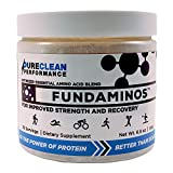 PureClean Performance Fundaminos - Jar (30 Serving - 195G), Essential Amino Acid Powder, Vegan, Great Tasting, Naturally-Flavoured, Best Priced, Compare to Map and Perfectamino, 30 Servings