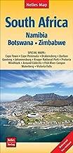 South Africa, Namibia, Bostwana, Zimbabwe Nelles Map 1:2.5M WP (English, French and German Edition)