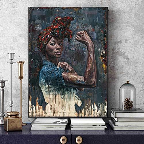 MINMIN Cuadros Decoracion Salon Carteles Retrato Mujer e Impresiones Pinturas eléctricas en...