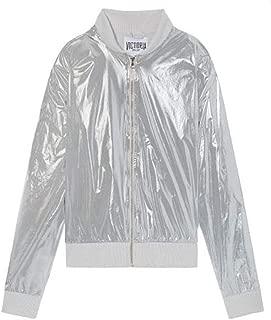 Victoria's Secret Sport Limited Edit. Bomber Jacket Metallic Silver Foil