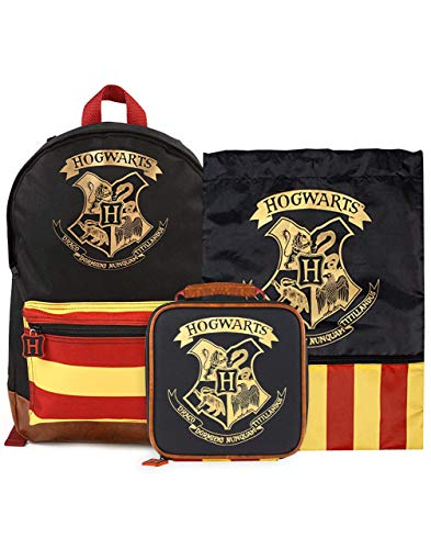 Mochila Harry Potter, bolsa de almuerzo y paquete de bolsa de entrenamiento