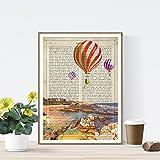 Nacnic Lámina Ciudad de Santander. Estilo Vintage. Ilustración, fotografía y Collage con la Historia DE Santander. Poster tamaño A4 Impreso en Papel