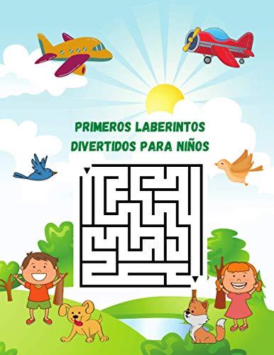 Primeros laberintos divertidos para niños: Libro de actividades de aprendizaje de laberintos para niños de 4-6 6-8 años, libro de trabajo para juegos, rompecabezas y resolución de problemas