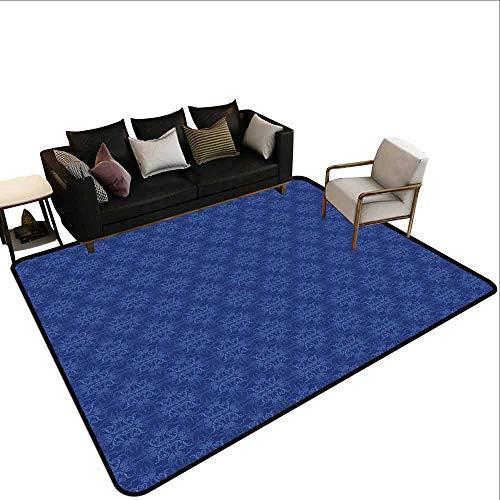 MsShe groot tapijt marineblauw decor, diverse maten klassieke Fleur de Lis patronen Royal retro stijl antieke Decor leven, grijs donkerblauw