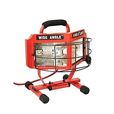 Woods L5200 500-Watt Wide Angle 160-Degree Halogen Work Light with Weatherproof Switches, 5-Foot Cord, Red