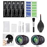 Kit de limpieza de cámara Herramientas profesionales de limpieza de polvo con hisopo de algodón Juego de limpieza digital, para telescopio, para TV, pantalla LCD