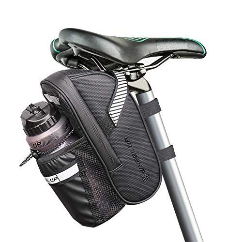 LINGSFIRE Bolsa para Sillín de Bicicleta Impermeable de Asiento con Bolsa de Botella de Agua para Bicis MTB Bici de Carretera Bici Plegable, 1,5 L