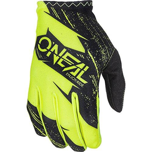 O'NEAL | Guanti Ciclismo e Motocross | Bambini | MX MTB FR Downhill Freeride | Materiali durevoli e flessibili, palmo superiore ventilato | Matrix Youth Glove Burnout | Nero Giallo Neon | Taglia S