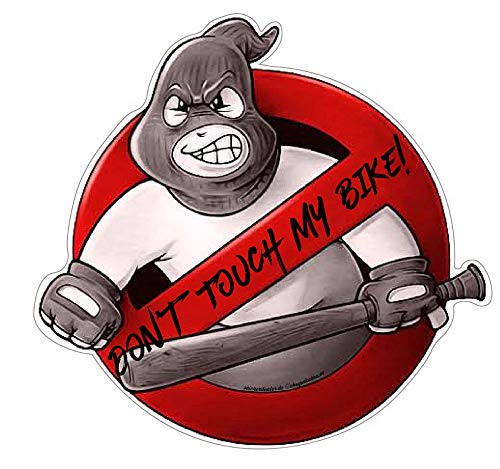 Don't Touch My Bike! Aufkleber Sticker JDM Tuning Oldschool Hardcore Baseballschläger Simson Moped Motorrad Racing Sport