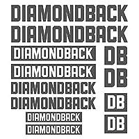 装飾デカールステッカーセットスタイリング自転車本体の車 - DIAMONDBACKダイカットデカールステッカーシート(サイクリング、マウンテンバイク、BMX、自転車、フレーム)の場合 (gray)