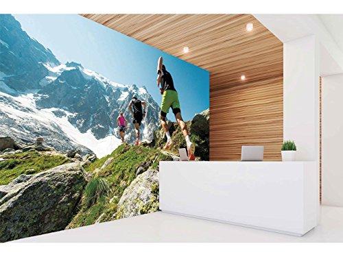 Fotomural Vinilo Pared Gimnasios Rúnning Alta Montaña | Fotomural para Paredes | Mural | Vinilo Decorativo | Varias Medidas 200 x 150 cm | Decoración comedores, Salones, Habitaciones.