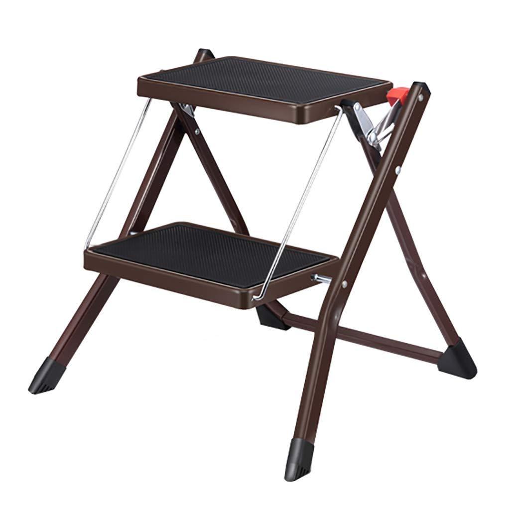 HEMFV Taburetes de 2 Pasos para Escalar en Interiores, Escalera de Tijera Plegable de Color Blanco Ligero con empuñadura Antideslizante Robusto y Pedal Ancho Minibol en Escalera (Color : Marrón): Amazon.es: Hogar
