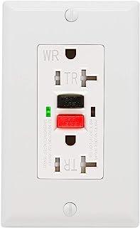 GFCI Outlet 20 Amp, UL Listed, Tamper-Resistant, Weather Resistant Receptacle Indoor or..