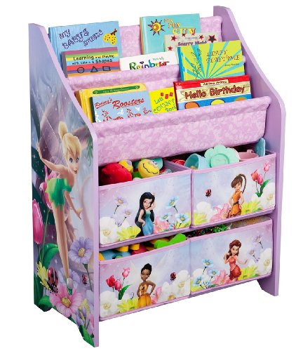 Pink Fairy Wishes Bench Seat With Storage Toy Box Seating: Price!!Disney Fairies Book And Toy Organizer
