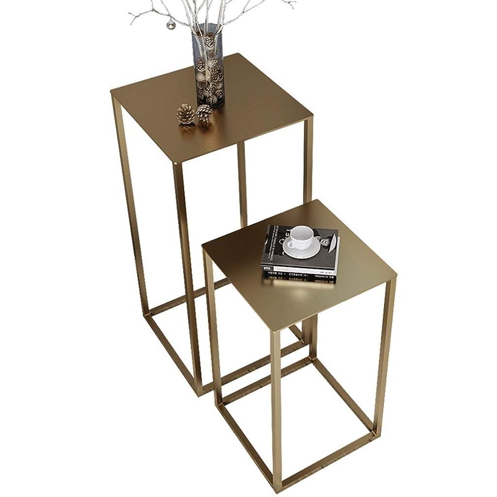 プーノ一回聞くテーブル、コーヒーテーブル、サイドテーブル、ソファサイドテーブルベッドサイドテーブルライティングデスクドレッシングテーブルダイニングテーブルアイロン材料サイドテーブル30-74CM (色 : ゴールド, サイズ さいず : A)