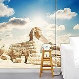 Benutzerdefinierte 3D Fototapete Klassische Ägyptische Sphinx Großes Wandbild Wohnzimmer Schlafzimmer Büro TV Hintergrund Tapete Dekoration-280X200CM