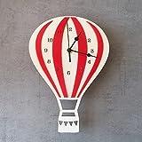 Makeupart Luftballonuhr Kreative Wandbehanguhren for Kinderzimmerdekoration (Color : Red)