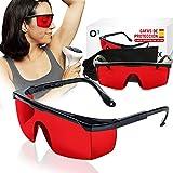 O³ Epilazione Laser Per Occhiali - 1 O 2 Confezioni Di Occhiali Protettivi Per Depilazione Hpl / Ipl / Luce Pulsata, 1 X Rosso