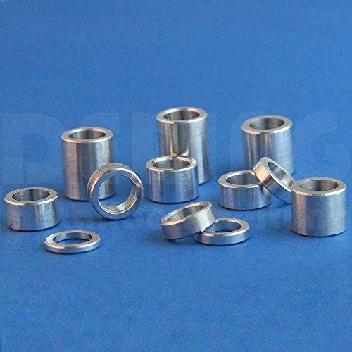 Espaciadores (10 unidades) 15 x 8,5 mm para aluminio M8