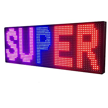 WiFi LED Sign - Programmable LED Sign P10 SMD full Color Scrolling LED Signs 39 x14  High Brightness Outdoor LED Advertising Display Panel
