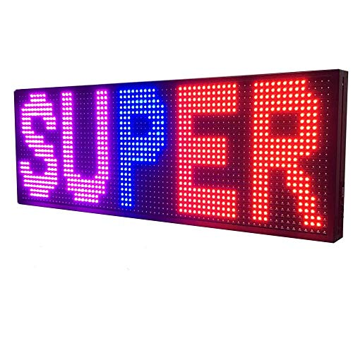 """WiFi LED Sign - Programmable LED Sign P10 SMD full Color Scrolling LED Signs 39""""x14"""" High Brightness Outdoor LED Advertising Display Panel"""