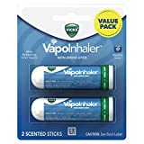 Vicks Vapoinhaler Portable Nasal Inhaler, 2 Count - Non-Medicated Vapors to Breathe Easy
