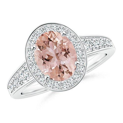 Angara.com  -  Platin 950  Platin Ovalschliff    Diamant Morganite
