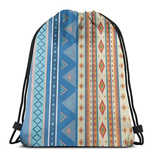 Aufsteigender Kordelzugbeutel Bohemian Tribal Ethno Rucksack Turnbeutel Gym Sack Kit Bag leichte Schwimmsport Tasche für Erwachsene Teenager