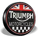 LYMT Triumph Metal Sign Cubierta de neumático de Repuesto Cubierta de neumático de Rueda Universal para Remolque RV SUV Camión Accesorios de Remolque de Viaje