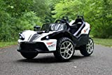 First Drive Slingshot - 2 Seater - 12v Kids Cars - Electric Motor Power Ride On Car with Remote, MP3, Aux Cord, Led Headlights, and Premium Wheels
