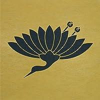 ステンシルシート 菊鶴 家紋 2サイズ型紙 (20cm)