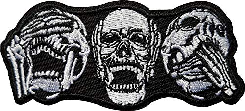 Red Eye Skull PATCH RICAMATE aufbügler Biker Dead HARLEY TESCHIO USA Rocker v2