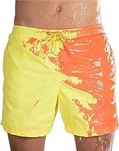 Fengstore Mannen Strand Shorts, Magische Verandering Kleur Mannen Zwembroek Badmode Sneldrogende Zwembroek
