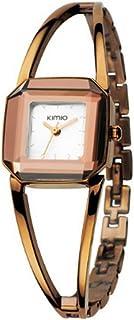 KIMIO Luxury Watches Women Square Watch Stainless Steel Fashion Lady Bracelet Watch Women Quartz Watch for Woman