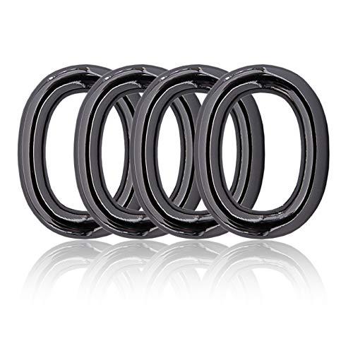 Ganzoo O - Ring oval aus Stahl, 4er Set, DIY Hunde-Leine/Hunde-Halsband, nichtrostend, Ideal mit Paracord 550, Farbe Titan