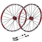 NS Ultraligero Ciclismo Ruedas 26, híbrido de Bicicletas MTB de Doble Pared del Borde de liberación rápida V-Brake/Orificio del Disco 7 8 9 10 135 mm Velocidad Actuación (Size : 27.5inch)