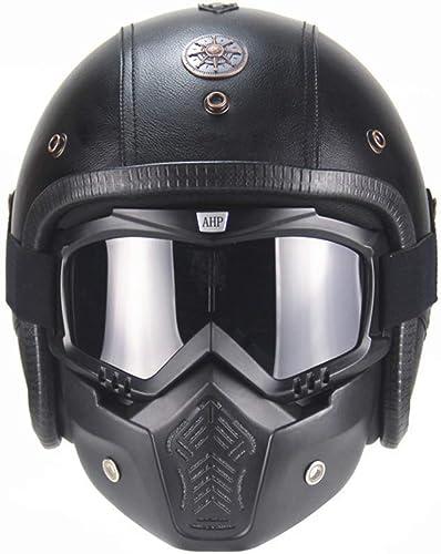 NMBE Rétro Casque de Moto, Harley Demi-Casque rétro, personnalité Creative Moto Harley Demi Casque Eyepiece