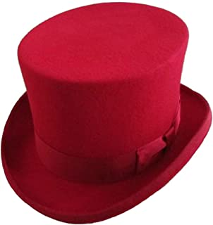 5252abb3 Elong Mens 100% Wool Felt Magic Top Hats Satin Lined 5