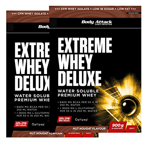 Body Attack Extreme Whey Deluxe, Nut Nougat Cream, 1.8 kg