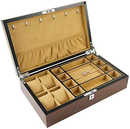 Jewelry Box for Women, Caja de joyería de doble capa caja de joyería de madera caja de almacenamiento caja de almacenamiento caja de colección de caja de joyería mejores regalos para mujeres niñas Tri